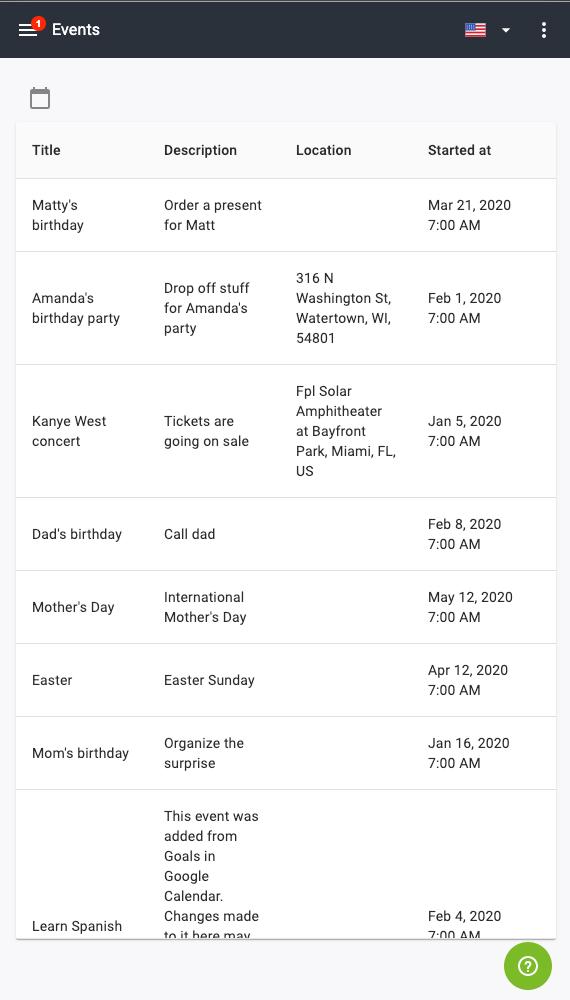 Calendar Activities mSpy