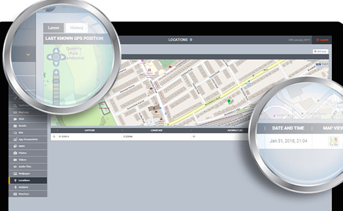 FlexiSPY location tracking feature