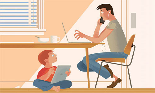 If a child wants to extend his screen time, he will need to send you a request